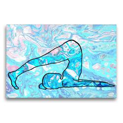Premium Textil-Leinwand 75 x 50 cm Quer-Format Der Pflug für das Kehlkopf-Chakra (Vishuddha) | Wandbild, HD-Bild auf Keilrahmen, Fertigbild auf hochwertigem Vlies, Leinwanddruck von Michaela Schimmack