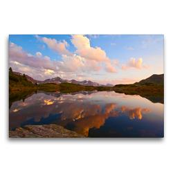 Premium Textil-Leinwand 75 x 50 cm Quer-Format Der schöne Ort Obertauern | Wandbild, HD-Bild auf Keilrahmen, Fertigbild auf hochwertigem Vlies, Leinwanddruck von Christa Kramer