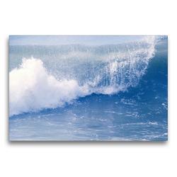 Premium Textil-Leinwand 75 x 50 cm Quer-Format Die blaue Welle   Wandbild, HD-Bild auf Keilrahmen, Fertigbild auf hochwertigem Vlies, Leinwanddruck von Youlia