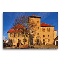 Premium Textil-Leinwand 75 x 50 cm Quer-Format Die Burg | Wandbild, HD-Bild auf Keilrahmen, Fertigbild auf hochwertigem Vlies, Leinwanddruck von Detlef Thiemann / DT-Fotografie