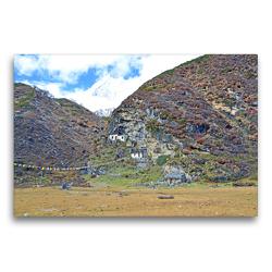 Premium Textil-Leinwand 75 x 50 cm Quer-Format Die Pungyen Gompa nahe des Manaslu bei Samagaon auf 4060 m Höhe ist heute unbewohnt | Wandbild, HD-Bild auf Keilrahmen, Fertigbild auf hochwertigem Vlies, Leinwanddruck von N N