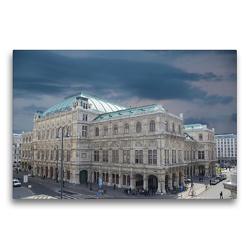 Premium Textil-Leinwand 75 x 50 cm Quer-Format Die Staatsoper | Wandbild, HD-Bild auf Keilrahmen, Fertigbild auf hochwertigem Vlies, Leinwanddruck von Rufotos