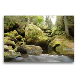 Premium Textil-Leinwand 75 x 50 cm Quer-Format Die Triberger Wasserfälle | Wandbild, HD-Bild auf Keilrahmen, Fertigbild auf hochwertigem Vlies, Leinwanddruck von Flori0