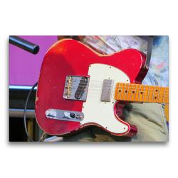 Premium Textil-Leinwand 75 x 50 cm Quer-Format E-Gitarre – Vintage Telecaster | Wandbild, HD-Bild auf Keilrahmen, Fertigbild auf hochwertigem Vlies, Leinwanddruck von Renate Bleicher