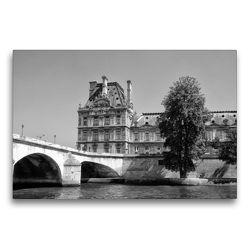 Premium Textil-Leinwand 75 x 50 cm Quer-Format Ecole de Louvre in Paris | Wandbild, HD-Bild auf Keilrahmen, Fertigbild auf hochwertigem Vlies, Leinwanddruck von kattobello