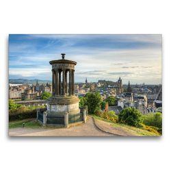 Premium Textil-Leinwand 75 x 50 cm Quer-Format Edinburgh Calton Hill | Wandbild, HD-Bild auf Keilrahmen, Fertigbild auf hochwertigem Vlies, Leinwanddruck von Michael Valjak