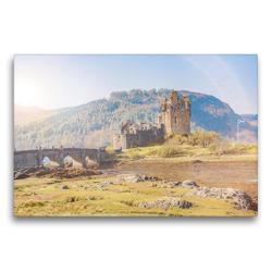 Premium Textil-Leinwand 75 x 50 cm Quer-Format Eilean Donan Castle auf der Isle of Skye | Wandbild, HD-Bild auf Keilrahmen, Fertigbild auf hochwertigem Vlies, Leinwanddruck von pixs:sell@Adobe Stock