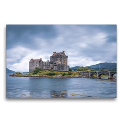 Premium Textil-Leinwand 75 x 50 cm Quer-Format Eilean Donan Castle | Wandbild, HD-Bild auf Keilrahmen, Fertigbild auf hochwertigem Vlies, Leinwanddruck von Harald Schnitzler