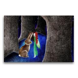 Premium Textil-Leinwand 75 x 50 cm Quer-Format Ein Geheimnis   Wandbild, HD-Bild auf Keilrahmen, Fertigbild auf hochwertigem Vlies, Leinwanddruck von Christine Denorme