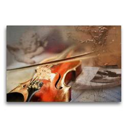 Premium Textil-Leinwand 75 x 50 cm Quer-Format Ein himmlisches Instrument | Wandbild, HD-Bild auf Keilrahmen, Fertigbild auf hochwertigem Vlies, Leinwanddruck von Christiane Calmbacher