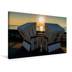 Premium Textil-Leinwand 75 x 50 cm Quer-Format Emotionale Momente: Sylt in Gold. | Wandbild, HD-Bild auf Keilrahmen, Fertigbild auf hochwertigem Vlies, Leinwanddruck von Ingo Gerlach von Gerlach,  Ingo