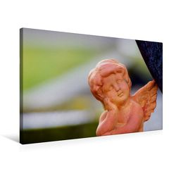 Premium Textil-Leinwand 75 x 50 cm Quer-Format Engel-Kalender mit Zitaten / CH-Version | Wandbild, HD-Bild auf Keilrahmen, Fertigbild auf hochwertigem Vlies, Leinwanddruck von Tanja Riedel von Riedel,  Tanja