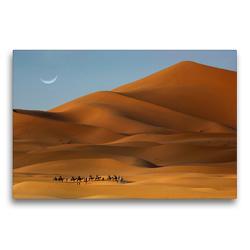 Premium Textil-Leinwand 75 x 50 cm Quer-Format Erg Chebbi, Merzouga, Morocco | Wandbild, HD-Bild auf Keilrahmen, Fertigbild auf hochwertigem Vlies, Leinwanddruck von Christian Heeb