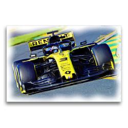 Premium Textil-Leinwand 75 x 50 cm Quer-Format Fahrerisch ist der Australier Danny Ricciardo immer für Siege und Podestplätze gut. | Wandbild, HD-Bild auf Keilrahmen, Fertigbild auf hochwertigem Vlies, Leinwanddruck von DeVerviers