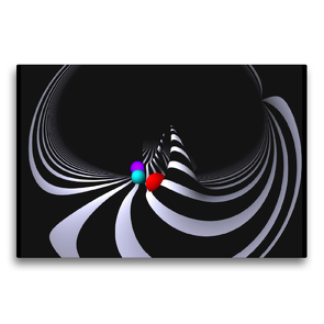 Premium Textil-Leinwand 75 x 50 cm Quer-Format Farben Formen Fisheye   Wandbild, HD-Bild auf Keilrahmen, Fertigbild auf hochwertigem Vlies, Leinwanddruck von IssaBild