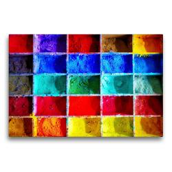 Premium Textil-Leinwand 75 x 50 cm Quer-Format Farbpulver | Wandbild, HD-Bild auf Keilrahmen, Fertigbild auf hochwertigem Vlies, Leinwanddruck von Steffani Lehmann (Hrsg.)