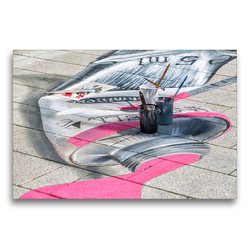Premium Textil-Leinwand 75 x 50 cm Quer-Format Farbtupfer   Wandbild, HD-Bild auf Keilrahmen, Fertigbild auf hochwertigem Vlies, Leinwanddruck von Andreas Klesse