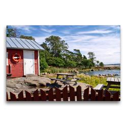 Premium Textil-Leinwand 75 x 50 cm Quer-Format Finnland Sommer   Wandbild, HD-Bild auf Keilrahmen, Fertigbild auf hochwertigem Vlies, Leinwanddruck von Anke Thoschlag