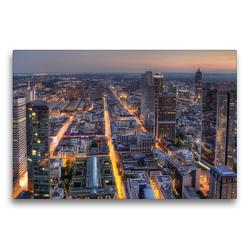 Premium Textil-Leinwand 75 x 50 cm Quer-Format Frankfurt/Main – Maintower | Wandbild, HD-Bild auf Keilrahmen, Fertigbild auf hochwertigem Vlies, Leinwanddruck von TJPhotography (Thorsten Jung)