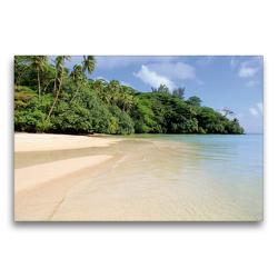 Premium Textil-Leinwand 75 x 50 cm Quer-Format Französisch-Polynesien – Huahine | Wandbild, HD-Bild auf Keilrahmen, Fertigbild auf hochwertigem Vlies, Leinwanddruck von N N