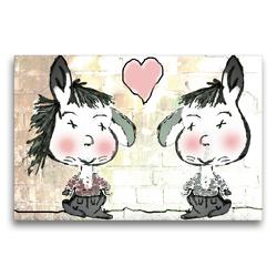 Premium Textil-Leinwand 75 x 50 cm Quer-Format Freundschaft mit viel Herz CB | Wandbild, HD-Bild auf Keilrahmen, Fertigbild auf hochwertigem Vlies, Leinwanddruck von Claudia Burlager