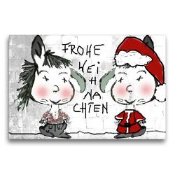 Premium Textil-Leinwand 75 x 50 cm Quer-Format Frohe Weihnachten CB | Wandbild, HD-Bild auf Keilrahmen, Fertigbild auf hochwertigem Vlies, Leinwanddruck von Claudia Burlager