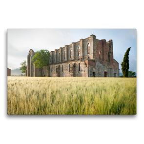 Premium Textil-Leinwand 75 x 50 cm Quer-Format Frühling in der Toskana – Foto eines stattlich historischen Denkmals   Wandbild, HD-Bild auf Keilrahmen, Fertigbild auf hochwertigem Vlies, Leinwanddruck von CALVENDO