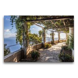 Premium Textil-Leinwand 75 x 50 cm Quer-Format Garten der Villa San Michele auf Capri, Italien | Wandbild, HD-Bild auf Keilrahmen, Fertigbild auf hochwertigem Vlies, Leinwanddruck von Christian Müringer