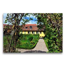 Premium Textil-Leinwand 75 x 50 cm Quer-Format Garten von Goethes Wohnhaus am Frauenplan | Wandbild, HD-Bild auf Keilrahmen, Fertigbild auf hochwertigem Vlies, Leinwanddruck von Pia Thauwald