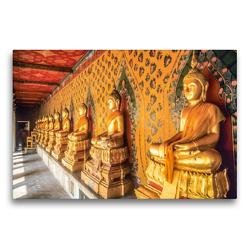 Premium Textil-Leinwand 75 x 50 cm Quer-Format Goldene Buddha-Statuen im Grand Palace in Bangkok | Wandbild, HD-Bild auf Keilrahmen, Fertigbild auf hochwertigem Vlies, Leinwanddruck von Christian Müringer