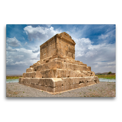 Premium Textil-Leinwand 75 x 50 cm Quer-Format Grabmal von Kyros II., Pasargadae   Wandbild, HD-Bild auf Keilrahmen, Fertigbild auf hochwertigem Vlies, Leinwanddruck von Guenter Guni