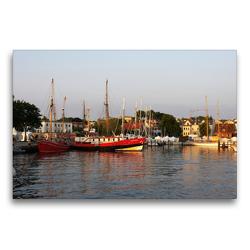 Premium Textil-Leinwand 75 x 50 cm Quer-Format Hafenblick | Wandbild, HD-Bild auf Keilrahmen, Fertigbild auf hochwertigem Vlies, Leinwanddruck von Tanja Riedel