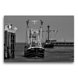 Premium Textil-Leinwand 75 x 50 cm Quer-Format Hafeneinfahrt | Wandbild, HD-Bild auf Keilrahmen, Fertigbild auf hochwertigem Vlies, Leinwanddruck von kattobello