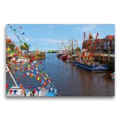Premium Textil-Leinwand 75 x 50 cm Quer-Format Hafenromantik | Wandbild, HD-Bild auf Keilrahmen, Fertigbild auf hochwertigem Vlies, Leinwanddruck von Olaf Friedrich