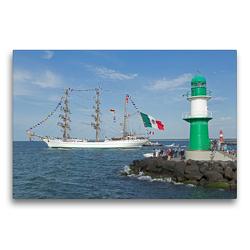 Premium Textil-Leinwand 75 x 50 cm Quer-Format Hanse-Sail | Wandbild, HD-Bild auf Keilrahmen, Fertigbild auf hochwertigem Vlies, Leinwanddruck von N N
