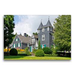 Premium Textil-Leinwand 75 x 50 cm Quer-Format Haus Grünwald, Solingen   Wandbild, HD-Bild auf Keilrahmen, Fertigbild auf hochwertigem Vlies, Leinwanddruck von Udo Haafke