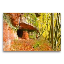 Premium Textil-Leinwand 75 x 50 cm Quer-Format Höhlen im Felsen | Wandbild, HD-Bild auf Keilrahmen, Fertigbild auf hochwertigem Vlies, Leinwanddruck von LianeM