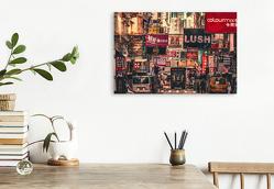 Premium Textil-Leinwand 75 x 50 cm Quer-Format Hongkong | Wandbild, HD-Bild auf Keilrahmen, Fertigbild auf hochwertigem Vlies, Leinwanddruck von Peter Roder
