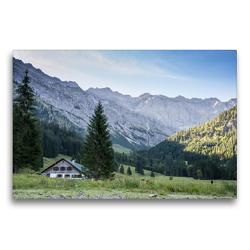 Premium Textil-Leinwand 75 x 50 cm Quer-Format Im Retterschwanger Tal | Wandbild, HD-Bild auf Keilrahmen, Fertigbild auf hochwertigem Vlies, Leinwanddruck von Juliane Wandel