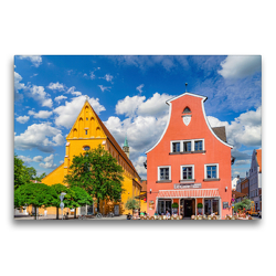 Premium Textil-Leinwand 75 x 50 cm Quer-Format Ingolstadt Impressionen | Wandbild, HD-Bild auf Keilrahmen, Fertigbild auf hochwertigem Vlies, Leinwanddruck von Dirk Meutzner