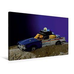 Premium Textil-Leinwand 75 x 50 cm Quer-Format Jaguar XJ 12 Police | Wandbild, HD-Bild auf Keilrahmen, Fertigbild auf hochwertigem Vlies, Leinwanddruck von Ingo Laue von Laue,  Ingo