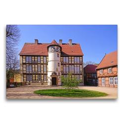 Premium Textil-Leinwand 75 x 50 cm Quer-Format Johann-Friedrich-Danneil Museum – Salzwedel   Wandbild, HD-Bild auf Keilrahmen, Fertigbild auf hochwertigem Vlies, Leinwanddruck von Beate Bussenius