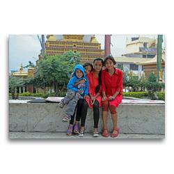 Premium Textil-Leinwand 75 x 50 cm Quer-Format Kalender 2020 der Nepal Kinderhilfe e.V. | Wandbild, HD-Bild auf Keilrahmen, Fertigbild auf hochwertigem Vlies, Leinwanddruck von Nicolle Range