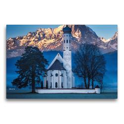 Premium Textil-Leinwand 75 x 50 cm Quer-Format Kirche Colmar Allgäu | Wandbild, HD-Bild auf Keilrahmen, Fertigbild auf hochwertigem Vlies, Leinwanddruck von Alexander Höntschel