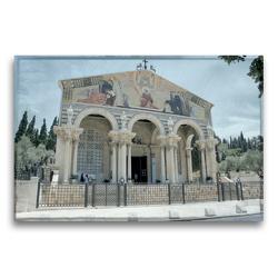 Premium Textil-Leinwand 75 x 50 cm Quer-Format Kirche der Nationen am Garten Gethsemane | Wandbild, HD-Bild auf Keilrahmen, Fertigbild auf hochwertigem Vlies, Leinwanddruck von GT Color
