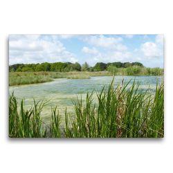 Premium Textil-Leinwand 75 x 50 cm Quer-Format Kleiner See in Südholland | Wandbild, HD-Bild auf Keilrahmen, Fertigbild auf hochwertigem Vlies, Leinwanddruck von Susanne Herppich