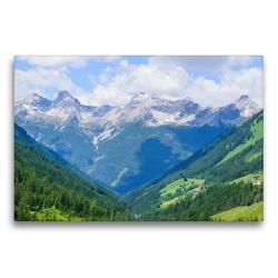 Premium Textil-Leinwand 75 x 50 cm Quer-Format Kleinwalsertal in Österreich | Wandbild, HD-Bild auf Keilrahmen, Fertigbild auf hochwertigem Vlies, Leinwanddruck von Karin Sigwarth