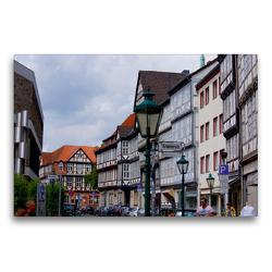 Premium Textil-Leinwand 75 x 50 cm Quer-Format Krämerstrasse in Hannover | Wandbild, HD-Bild auf Keilrahmen, Fertigbild auf hochwertigem Vlies, Leinwanddruck von kattobello