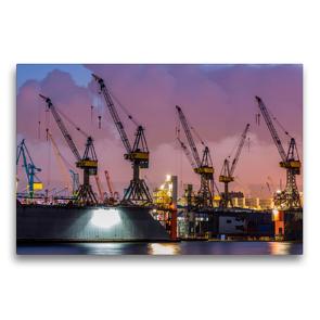 Premium Textil-Leinwand 75 x 50 cm Quer-Format Krane – bärenstarke Arbeitstiere   Wandbild, HD-Bild auf Keilrahmen, Fertigbild auf hochwertigem Vlies, Leinwanddruck von Peter Roder