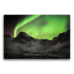 Premium Textil-Leinwand 75 x 50 cm Quer-Format Kvaløya – Norwegen | Wandbild, HD-Bild auf Keilrahmen, Fertigbild auf hochwertigem Vlies, Leinwanddruck von Clemens Haardiek
